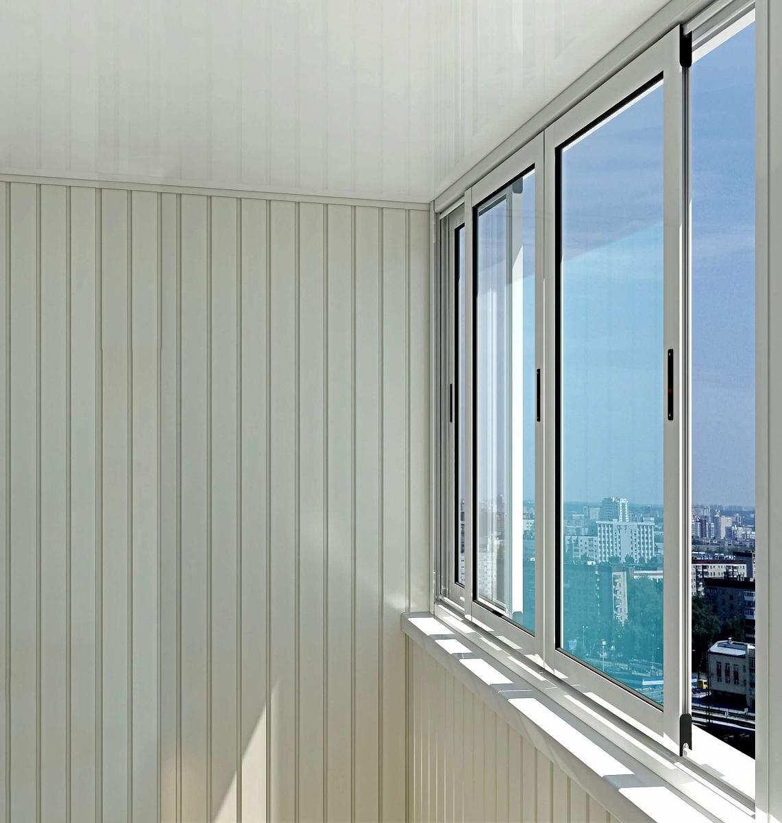 Алюминиевые окна provedal с640 на балкон в дзержинске алюмин.